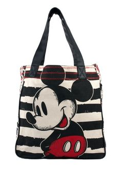 Mickey Mouse Black Striped Sketch Tote by Hello Kitty & More on @HauteLook