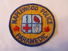 New Jersey Maple Wood Police Paramedic Patch Old