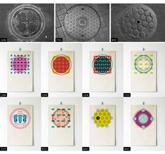 Observed Patterns and the design that came from them - Love it! Check out her site, so much great stuff there! Pattern Paper, Fabric Patterns, Print Patterns, Textiles, Surface Pattern Design, Brand Packaging, Textile Design, Geometry, Tokyo