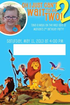Lion King Birthday Invitation - 2nd Birthday