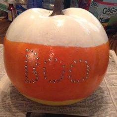 We can't wait to try out bedazzling our pumpkins for Halloween! BOO!