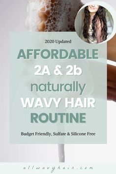 This is an AFFORDABLE hair routine for #wavyhair This is an effective hair routine for 2a and 2b wavy hair to help enhance your natural waves and bring them to life.