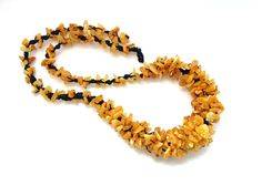 Baltic amber necklace medium Honey color by Ambereli on Etsy, $34.99