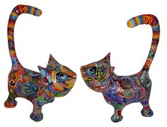 Paper Mache Sculpture, Sculptures, Moose Art, Cats, Animals, Paper, Recycling, Gatos, Animales