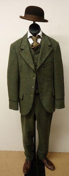 1860's – 1870's – Four Button Suit w/ Bowler