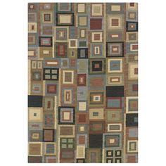 Rizzy Home Handmade Flatweave Swing -Colored Geometric Colored Blocks Area Rug