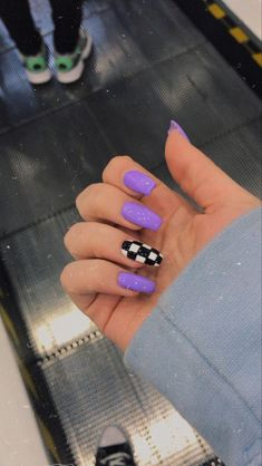 Purple Acrylic Nails, Acrylic Nails Coffin Short, Square Acrylic Nails, Summer Acrylic Nails, Purple Nails, Acrylic Nail Designs, Summer Nails, Winter Nails, Coffin Nails