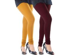 A good pair of leggings can be a woman's best friend. Leggings, also known as tights, can be worn with practically any outift and in almost any weather.  These leggings are high-waisted for ultimate comfort. They are made from a blend of cotton and lycra to give you a comfortable and luxurious fit every time you wear them. Material: Cotton and lycra blend Waist Style: High-waisted Type: Leggings / Tights Patterned: No