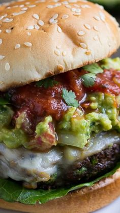 Southwest Pepper Jack Burgers. ~ Juicy and flavorful