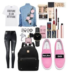 """School"" by madisonkiss on Polyvore featuring Joshua's, Moschino, ROSEFIELD, Victoria's Secret, Givenchy, Too Faced Cosmetics, NARS Cosmetics, Guerlain, Maybelline and Charlotte Russe"