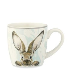 Brighten your springtime celebrations with these vintage-style mugs, decorated with a playful portrait of a woodland bunny. For a traditional touch of elegance, we've set the bunny against a pale blue floral backdrop that re-creates the look of da… Mugs Set, Tea Mugs, Coffee Mugs, Easter Tablecloth, Easter Table Decorations, Easter Decor, Easter Centerpiece, Centerpiece Ideas, Chocolate Mugs