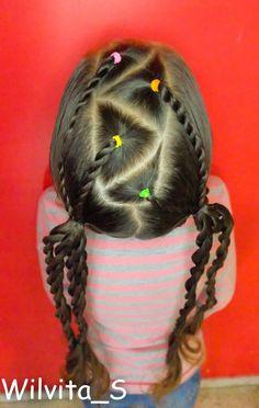 Peinado para niña muy fácil y bonito / Easy harstyle for girls