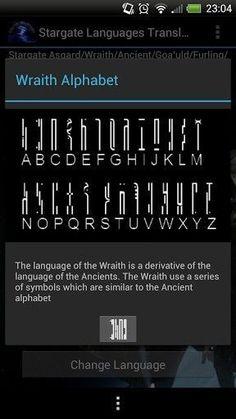 Ancient aesthetics, Stargate, and interior design. Alphabet Code, Alphabet Symbols, Alien Symbols, Fictional Languages, Ancient Alphabets, Different Alphabets, Stargate Universe, Stargate Atlantis, Science Fiction Art