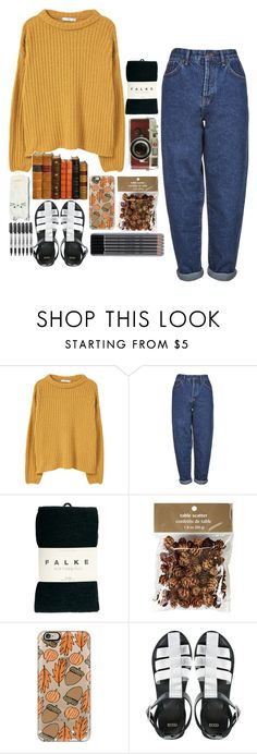 """Fall is here🍂"" by living-in-the-seaxx ❤ liked on Polyvore featuring MANGO, Boutique, Falke, Leica, Pier 1 Imports, Casetify, ASOS and Sharpie"