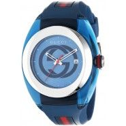Shop for Gucci Unisex 'Sync Large' Stainless Steel Blue Transparent Case Strap Watch. Get free delivery On EVERYTHING* Overstock - Your Online Watches Store! Gucci Watches For Men, Stylish Watches, Luxury Watches, Cool Watches, Fashion Watches, Women's Watches, Buy Gucci, Watch Model, Color Azul