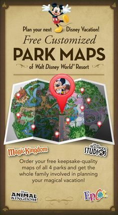 your next Disney Vacation! Create FREE customized Park Maps of Walt Disney World Resort!Plan your next Disney Vacation! Create FREE customized Park Maps of Walt Disney World Resort! Disney World Resorts, Disney World 2017, Disney 2015, Disney World Florida, Disney Vacations, Disney Trips, Map Of Disney World, Disney Worlds, Disney Vacation Planning