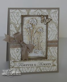 by LW Designs: Serene Silhouettes Anniversary. For My handmade greeting cards visit me at My English Personal blog: http://stampingwithbibiana.blogspot.com/