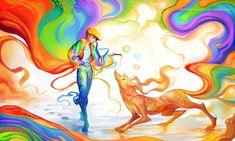 anime fantasy digital art by sakimichan 6 - Full Image Sakimichan Deviantart, Optical Illusion Photos, Art Magique, Anime Art Fantasy, Fantasy Artwork, Art Pages, Art World, Art Drawings, Drawing Art