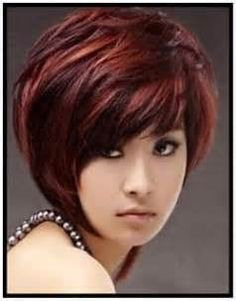 short hair chunky highlights - yahoo Image Search Results