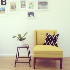 #regram from @Clare Barnes - how stunning does our lemongrass Astrid armchair look in her beautiful home?!