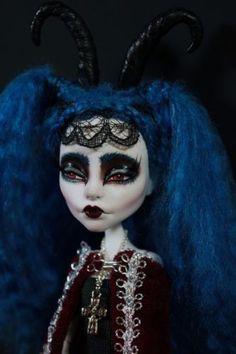 Alabaster Onyx OOAK Monster High Fantasy Art Doll Gothic Repaint Emo Halloween   eBay