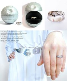 Princess Leia Belt Engagement Ring, by Paul Michael Designs.