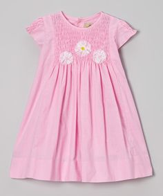 Look at this Alouette Pink Smocked Floral Dress - Infant, Toddler & Girls on #zulily today!