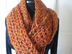 Crochet Infinity Scarf Cowl Extra Long Soft & by PeppersAttic