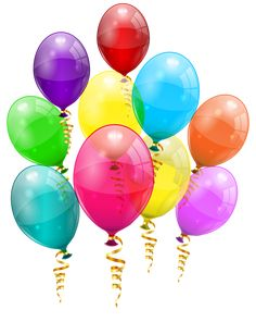 Bunch of Colorful Balloons PNG Clipart Image