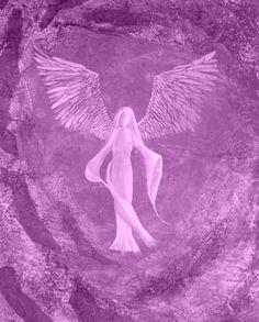 #ghdpastels Lavender Angel - Original mixed media artwork.  £250