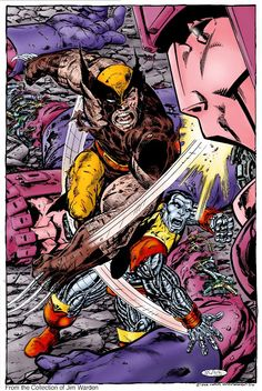 Colossus and Wolverine vs Sentinel by John Byrne