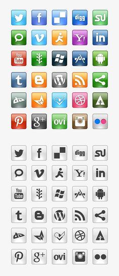 Clean and Colorful Social Media Icons Business Marketing Strategies, Email Marketing, Affiliate Marketing, Social Media Icons, Social Media Graphics, Online Labels, Social Media Trends, Show Me The Money, Free Graphics