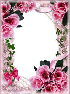 View album on Yandex. Rose Frame, Flower Frame, Flower Art, Happy Birthday Frame, Birthday Frames, Framed Wallpaper, Flower Wallpaper, Picture Borders, Boarders And Frames