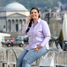 Plus size women's shirt Vercelli #plussize #curvy #womenshirt #uebergroessen #46inpoi Italienische damenblusen in großen Größen