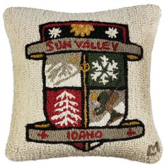 Sun Valley Patch Pillow  #currentlycoveting