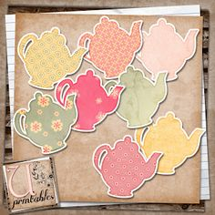 U printables by RebeccaB: FREE Print/Print and Cut - Teapots - Silhouette Studio File included in download
