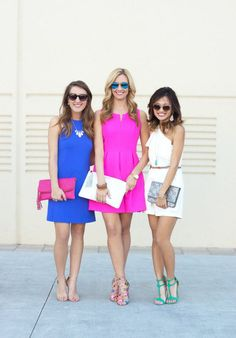Spring pantone colored dresses