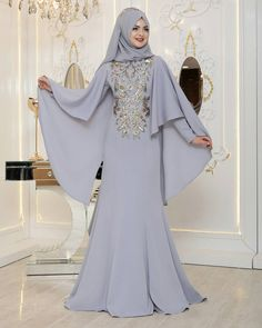 Hijab Gown, Hijab Dress Party, Abaya Fashion, Muslim Fashion, Fashion Dresses, Muslim Dress, Fantasy Gowns, Lovely Dresses, The Dress