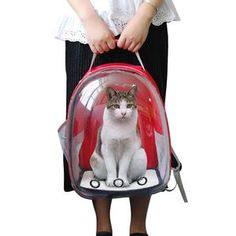 Breathable Pet Cat Carrier Bag Transparent Space Pets Backpack Capsule Bag for Cats Puppy Astronaut Travel Carry Handbag Outdoor Dog Travel Carrier, Pet Carrier Bag, Pet Bag, Cat Supplies, Backpacker, Fur Babies, Baby Car Seats, Your Pet, Puppies