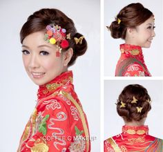 traditional chinese hair with butterflies