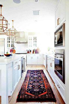 mid-centery boho white kitchen http://amzn.to/2jlTh5k