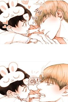 Read Soft Baby from the story ~Taekook Oneshots~ by btsupertae (Super Tae) with reads. Bts Taehyung, Bts Bangtan Boy, Jikook, Bts Manga, Chibi Bts, Vkook Memes, Vkook Fanart, Jungkook Fanart, Anime Lindo