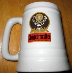 "Jagermeister Company Stag Logo Ceramic Mug Jagerfest 5"" Beer"