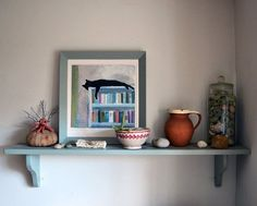 Andrew & Rebecca's Modern Vintage Country Home- really like this kitty pic