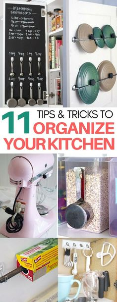 I am AMAZED at how incredibly clever these kitchen organization hacks are and easy to recreate!! organization ideas, life hacks, organizing under the kitchen sink, decluttering tips, organization ideas for the home
