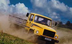 壁紙をダウンロードする キャビン, ロシア, 黄色, ガス3307, トラック