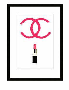 Coco Chanel Lipstick illustration Stock Art by TheArtofAdamShaw, £30.00