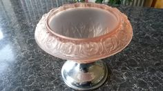 Classy Art Deco Walther Rosen Pink Frosted Glass and Chrome Small Floral Comport by VintageDecoUK on Etsy https://www.etsy.com/listing/273100384/classy-art-deco-walther-rosen-pink