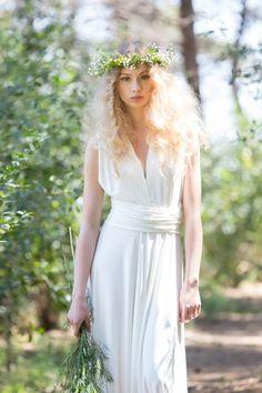 Brautkleider - Elfenbein Brautkleid, rustikale weißen Brautkleid - ein Designerstück von Mimetik_Bcn bei DaWanda