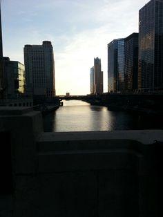 The bridge at Michigan and Wacker